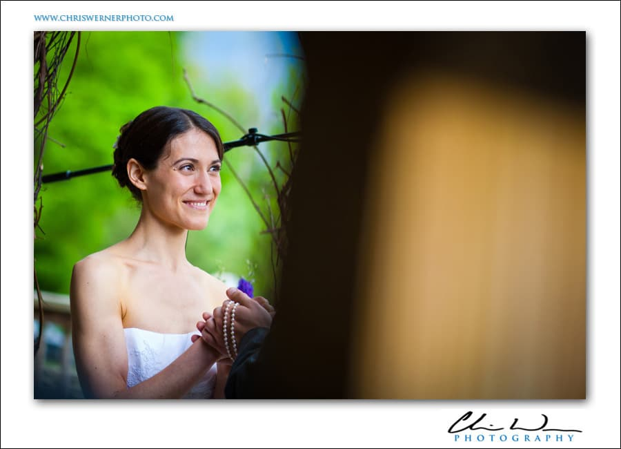 A bride during an Upstate New York Wedding ceremony.