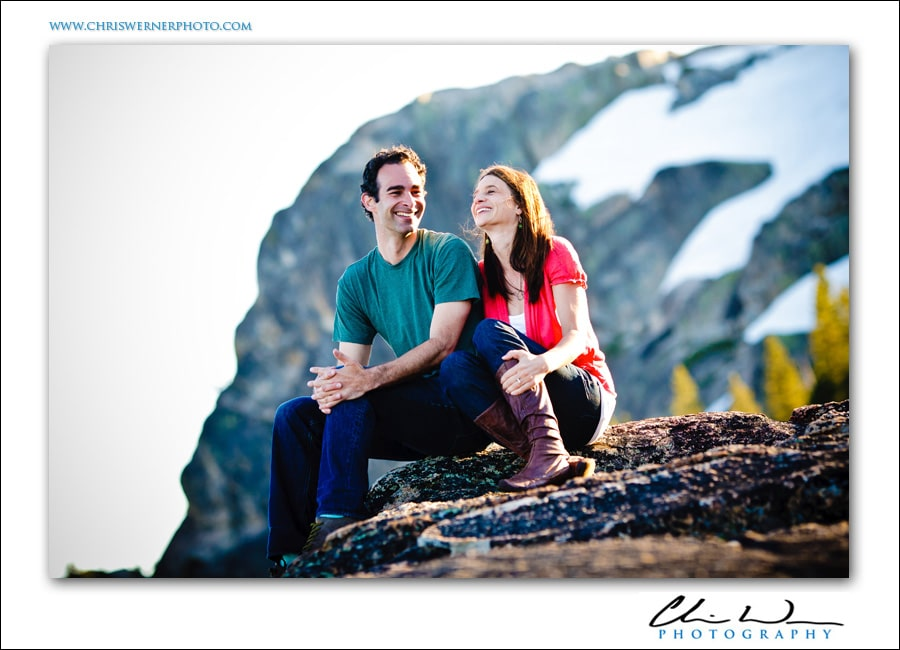 Truckee Engagement Photography above Donner Lake.