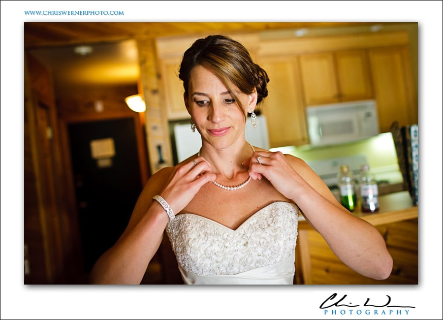 Northstar Lake Tahoe Wedding photo of a bride getting ready.