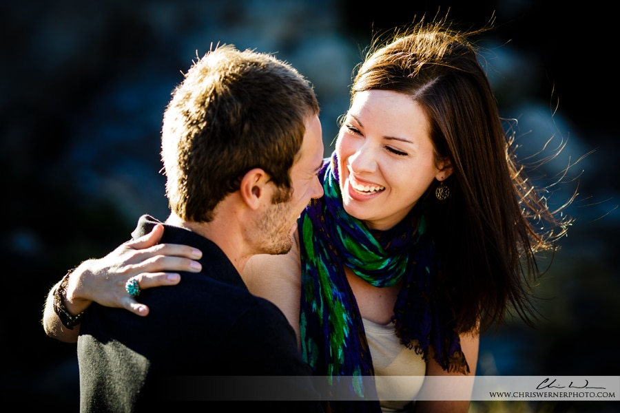 Outdoor couples portrait photography in Tahoe