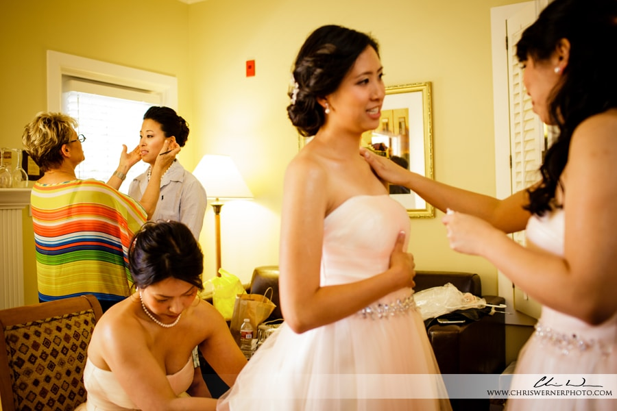 Photos of bridesmaid dresses and getting ready, by Wedding Photographers Napa Valley.
