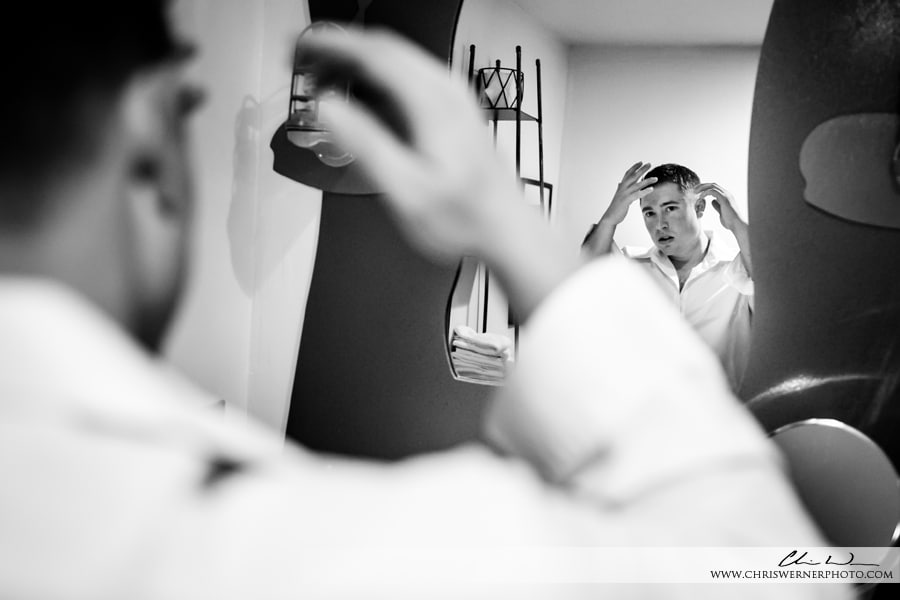 Squaw Valley PlumpJack wedding photos of a groom getting ready.