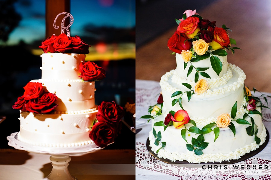 Red rose Wedding Cakes