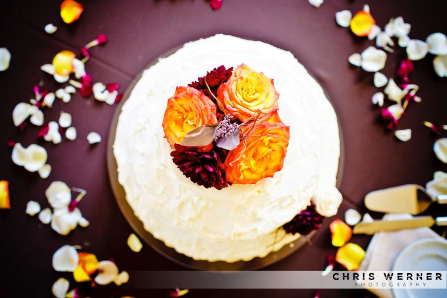 Orange rose Wedding Cakes