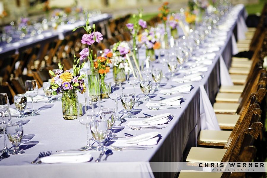 Summer Wedding Reception Flowers for outdoor weddings.