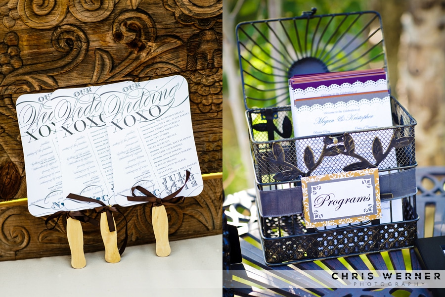 Wedding Ceremony Programs for summer weddings.
