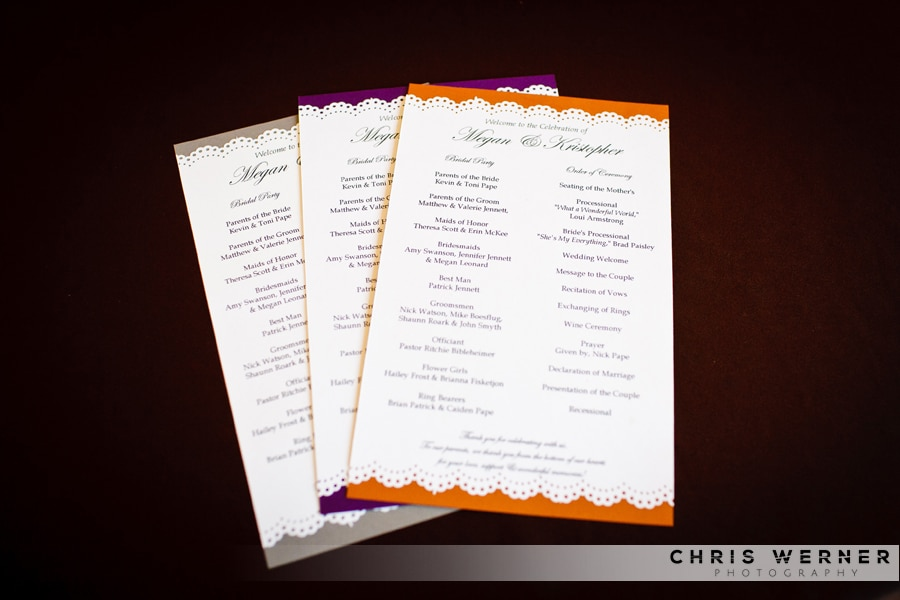 Colorful Wedding Ceremony Programs