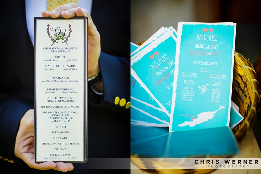 Tropical Wedding Ceremony Programs