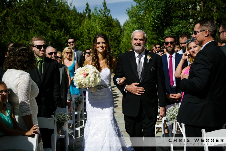 Father of the bride at a PlumpJack Squaw Valley Inn Wedding.
