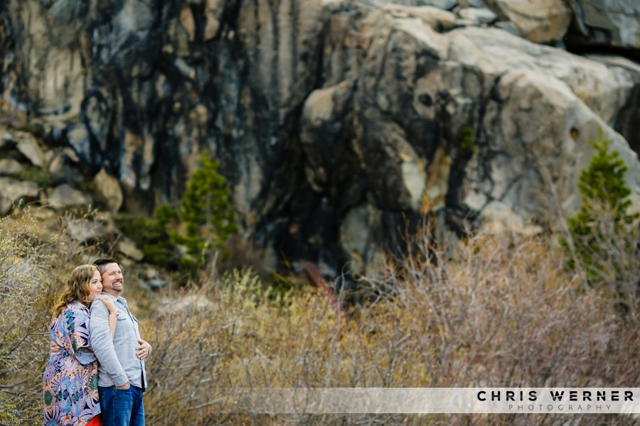 Outdoor Truckee engagement photos.