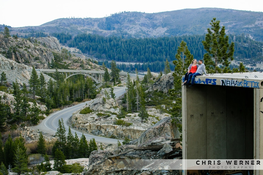 Truckee engagement photos by Rainbow Bridge.