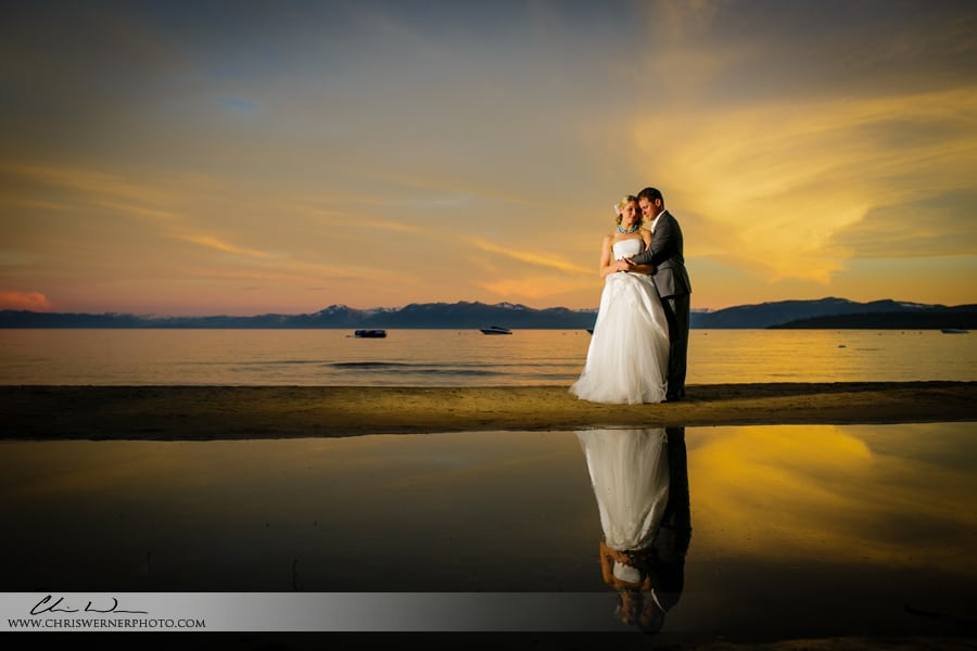 Bride and groom photos from Mourelatos Lake Tahoe Wedding Photographers.