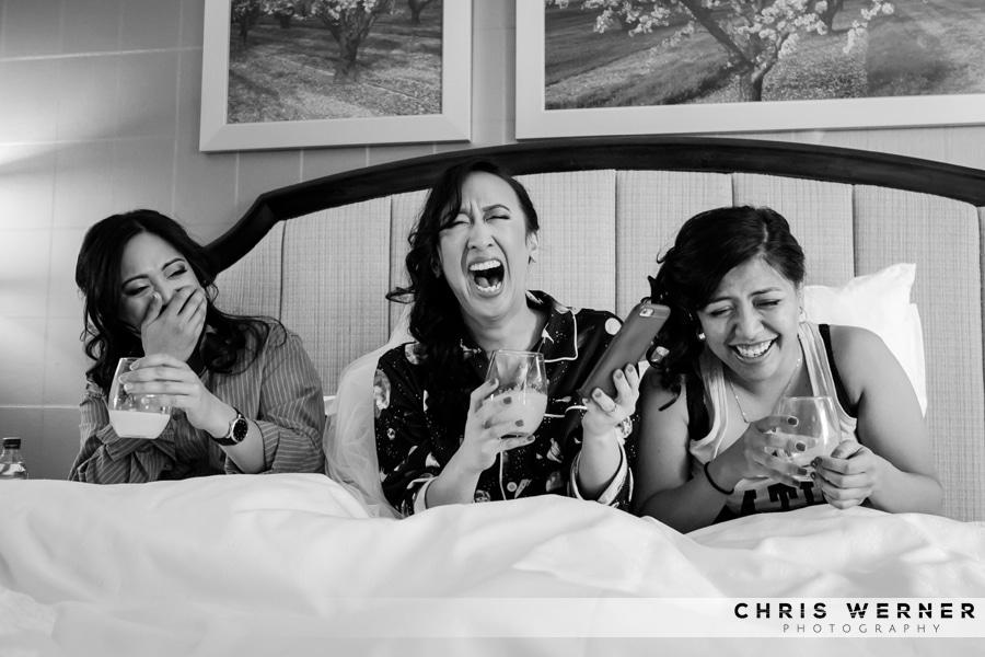Beatnik Studios wedding photo of the bride and bridesmaids.