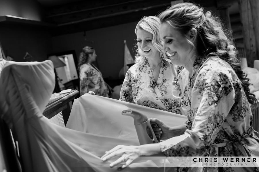 Bridesmaid robe idea, getting ready for a Lake Tahoe Tree Company wedding