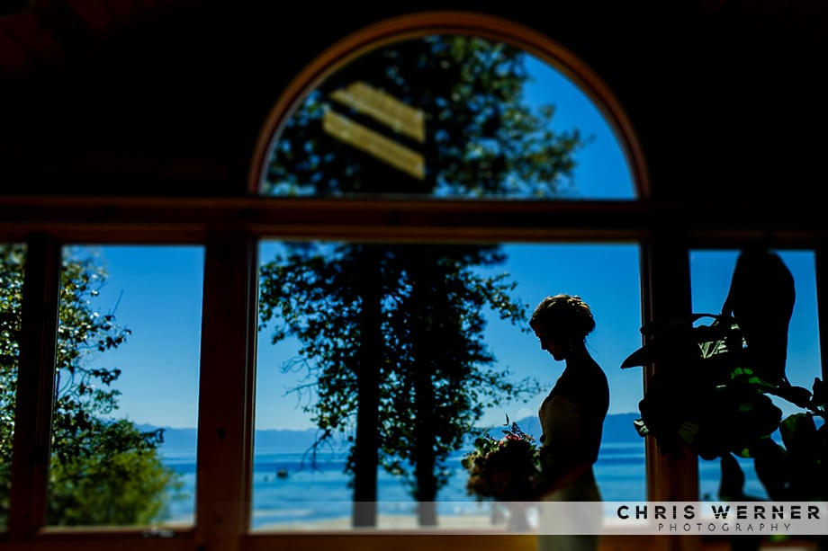 Artistic Lake Tahoe wedding photograph of a bride from a Lake Tahoe west shore wedding.