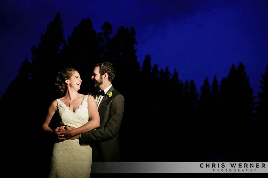 Tahoe Donner Lodge wedding photo by a Truckee photographer.